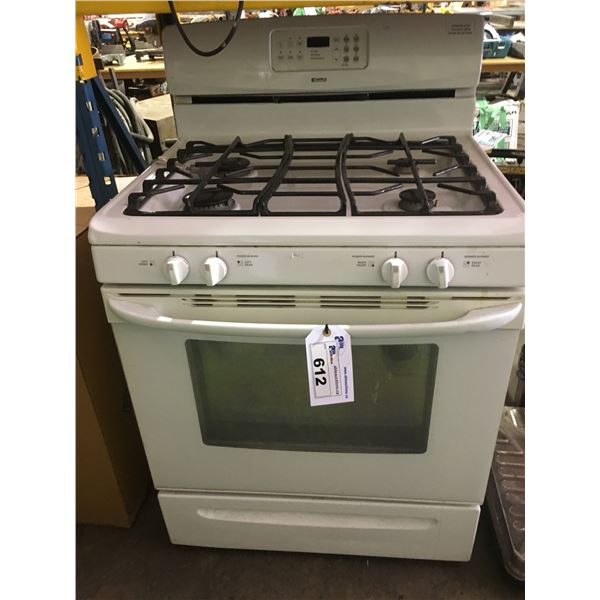 WHITE KENMORE 4 BURNER GAS STOVE AND OVEN