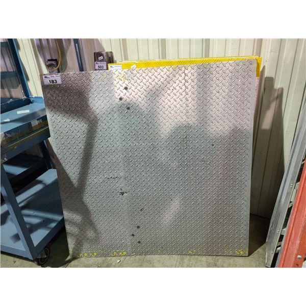 HEAVY DUTY INDUSTRIAL SOLID ALUMINUM CHECKER PLATE 4'X4' DOCK PLATE