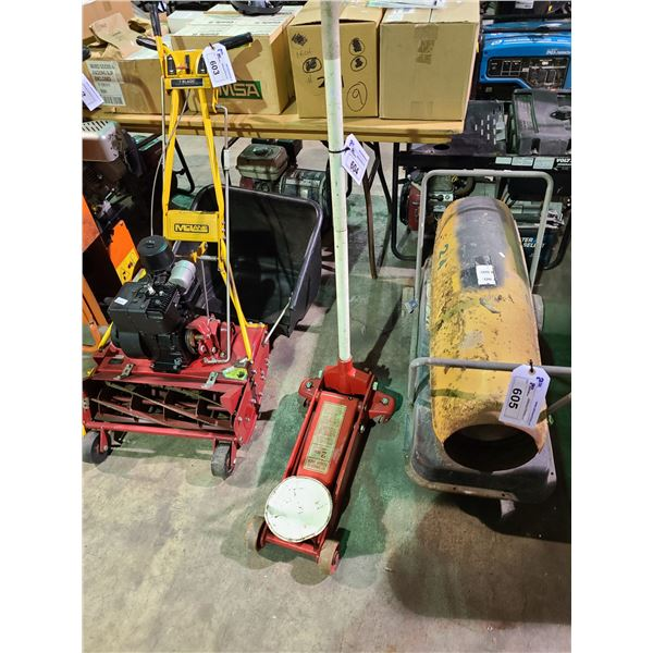 RED INDUSTRIAL 2 TON CAPACITY MOBILE HYDRAULIC JACK