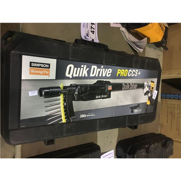 SIMPSON QUICKDRIVE PROCCS+ FASTNER TOOL WITH CASE