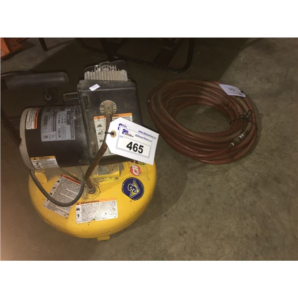 CAMPBELL HAUSFIELD 4 GALLON ELECTRIC AIR COMPRESSOR WITH HOSE