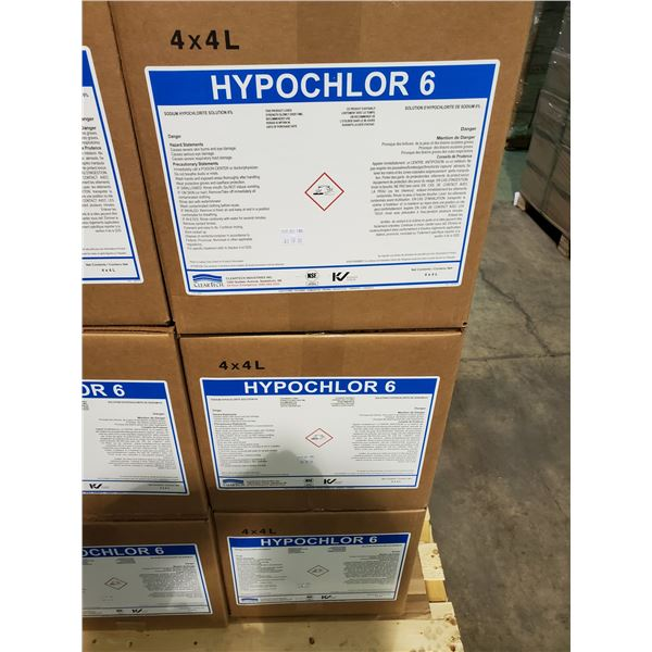 3 BOXES OF 4 X 4L CONTAINERS OF CLEARTECH HYPOCHLOR 6
