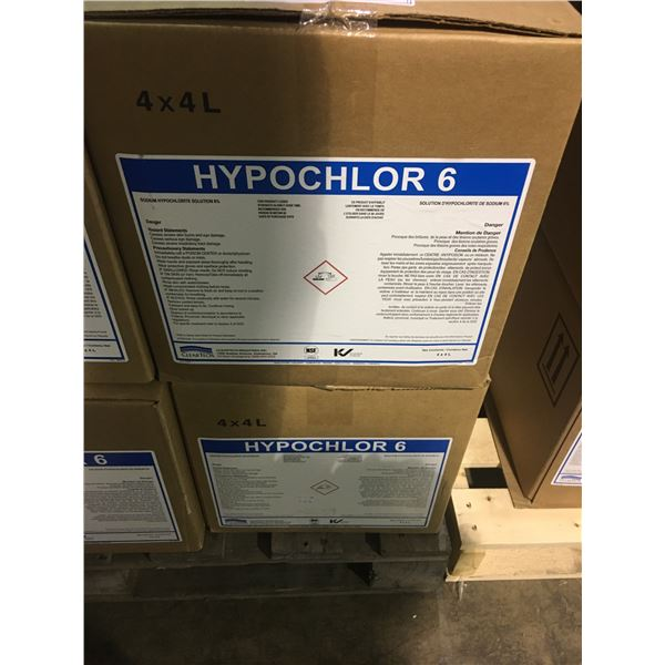 2 BOXES OF 4 X 4L CONTAINERS OF CLEARTECH HYPOCHLOR 6