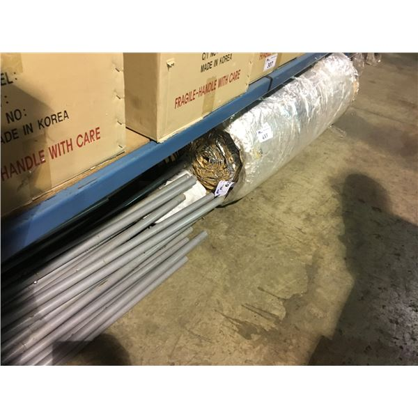 ROLL OF INSULATION, AND SUPPORT POLES