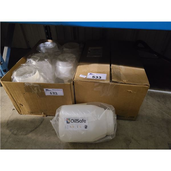 2 BOXES OF 6 OILSAFE 6L LIQUID STORAGE DRUMS