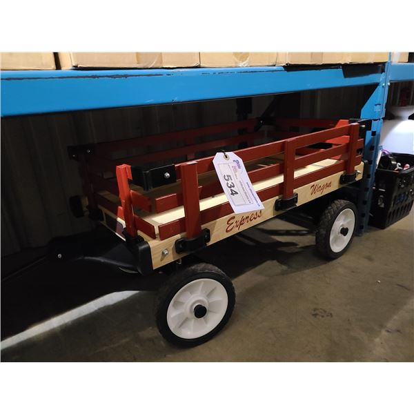 RED WOODEN EXPRESS WAGON