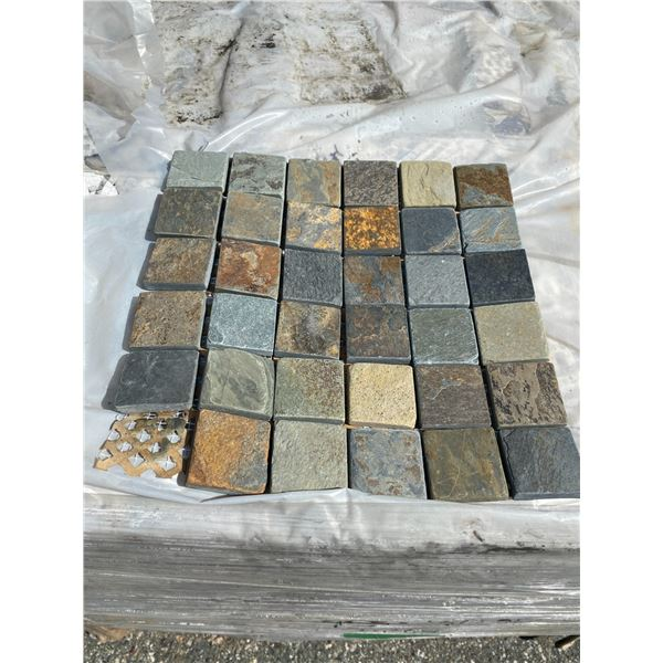 A pallet of Stone tiles (approx. 596 pieces)