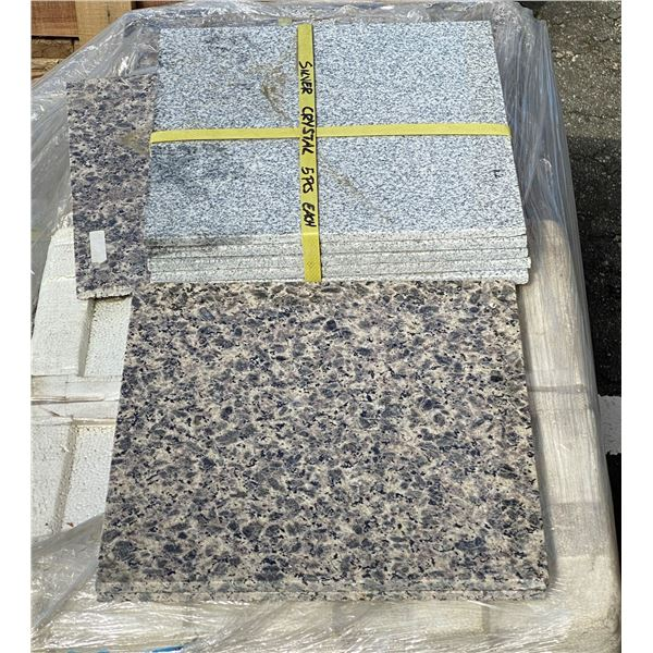 A pallet of granite 1ft x 1ft