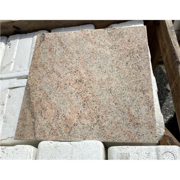 A pallet of granite 1ft x 1ft Kashmir white/yellow