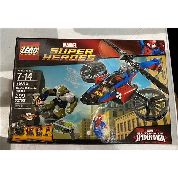 New lego 76016 Spider Helicopter rescue