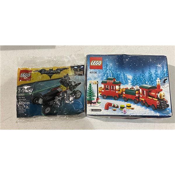 New lego 40138 christmas train and new lego 30521 mini batmobile
