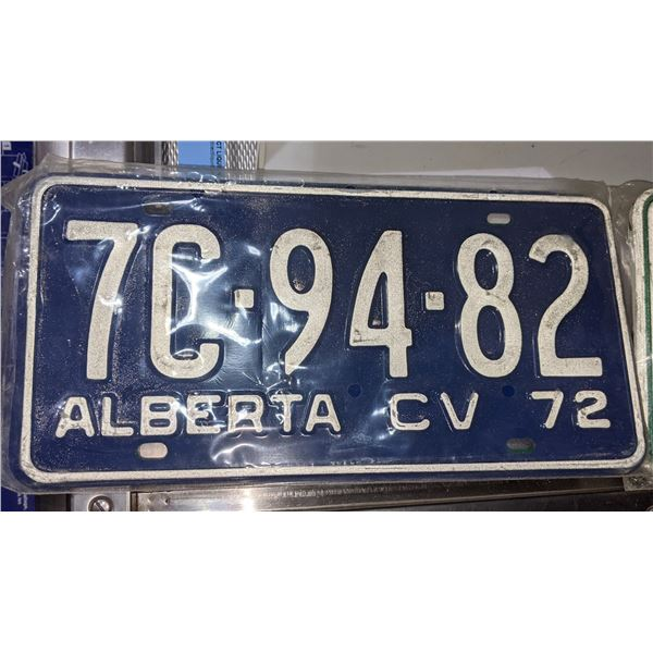 1967 and 1972 Alberta number plates