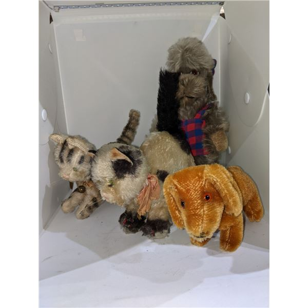 Collectible Steiff stuffed toys - Two cats two dogs