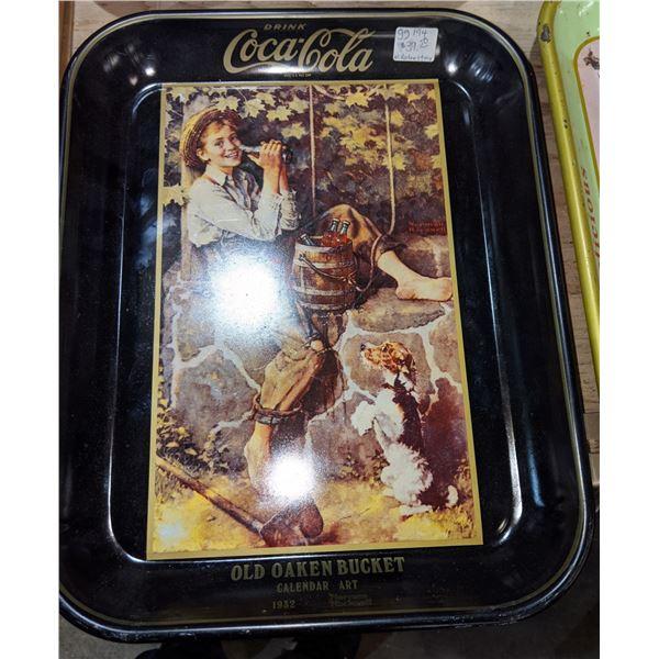 Metal Coca cola collectible trays (approx. 8 pieces)