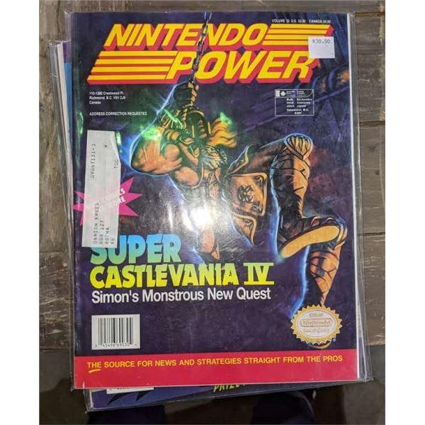 4 1990s Nintendo power magazines