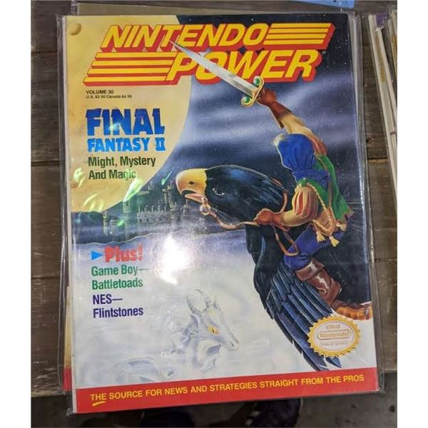4 1990s nintendo power and 2 gameboy advance magazines
