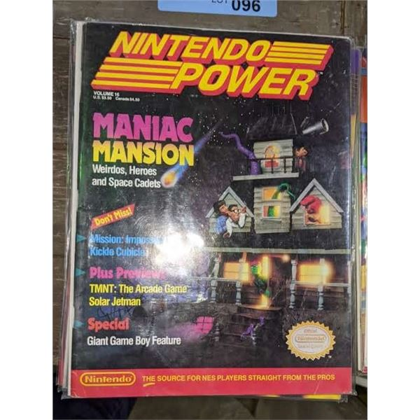 4 1990s nintendo power and 2 game guides magazines
