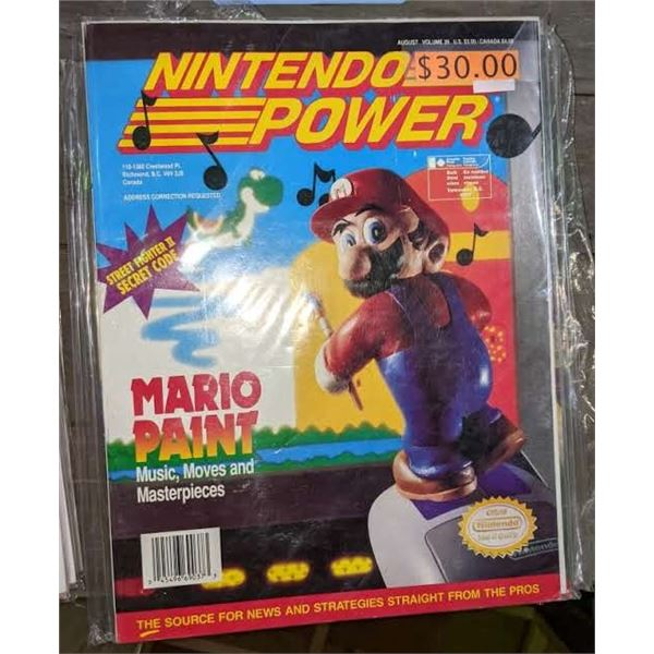 6 1990 nintendo power and 2 strategy guide magazines