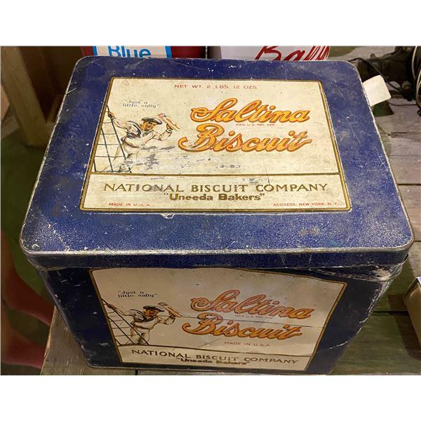 Vintage Saltina Biscuit tin box