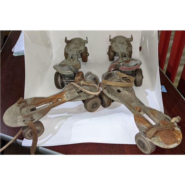 Vintage steel roller skates