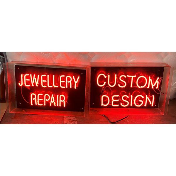 "Jewellery repair and custom design NEON Sign (Approx. 27"" x 16.5"")"