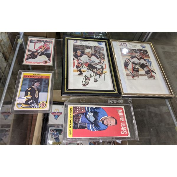 Assorted Hockey Cards and Pictures w Autograph