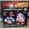 Image 2 : Light Up Glow Buddies Unicorn Toy - Approx 176 pieces
