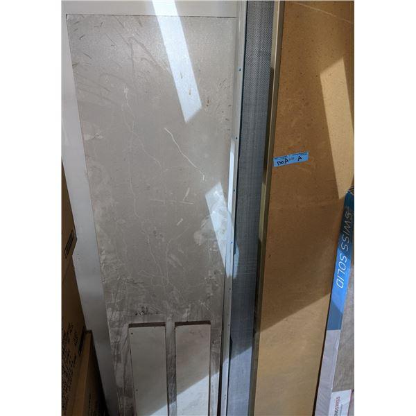 Sliding mirrors and laminate hardwood flooring