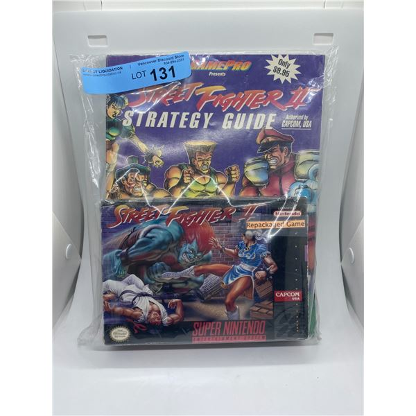 Super Nintendo Street fighter 2 repackaged game and strategy guide