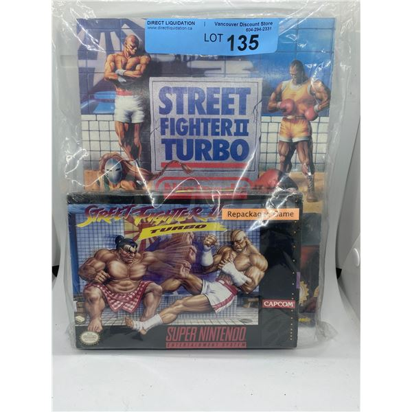 Super Nintendo Street fighter 2 turbo repackaged game and strategy guide
