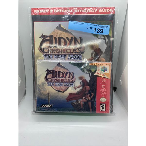 Nintendo 64 Aidyn Chronicles - The First Mage repackaged game and strategy guide