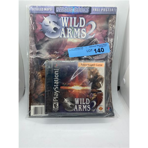 PlayStation wild Arms 2 game and detailed maps booklet