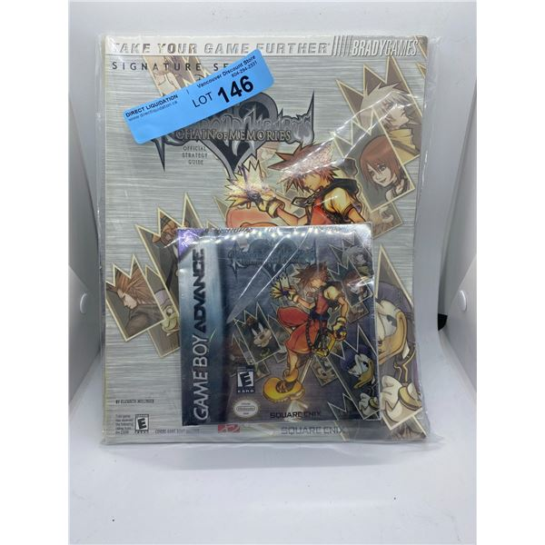 game Boy advance Kingdom hearts chain of memories game and official strategy guide