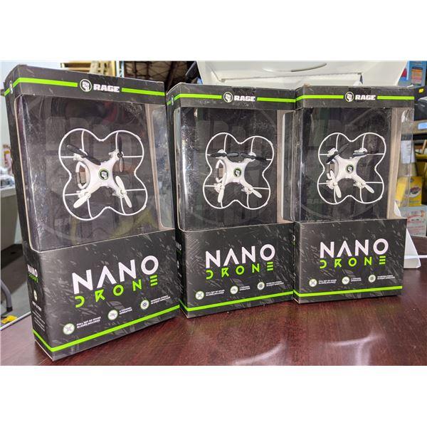 three nano drones