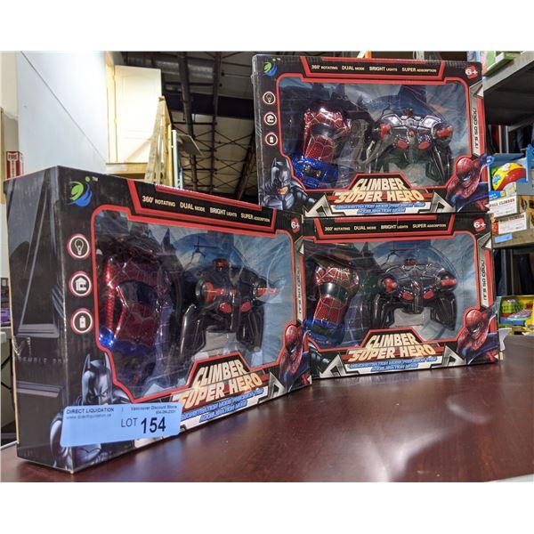 Lot of 3 Super Hero Climber Toys