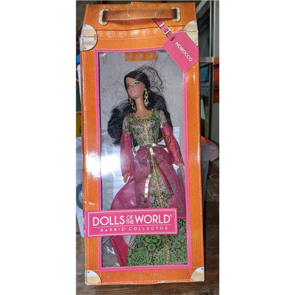 Assorted toys including collector edition Barbie musical Jewel box