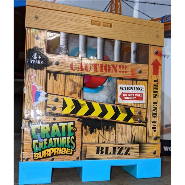 four boxes that sort of toys crate creatures building blocks toy crane and perfect petzzz