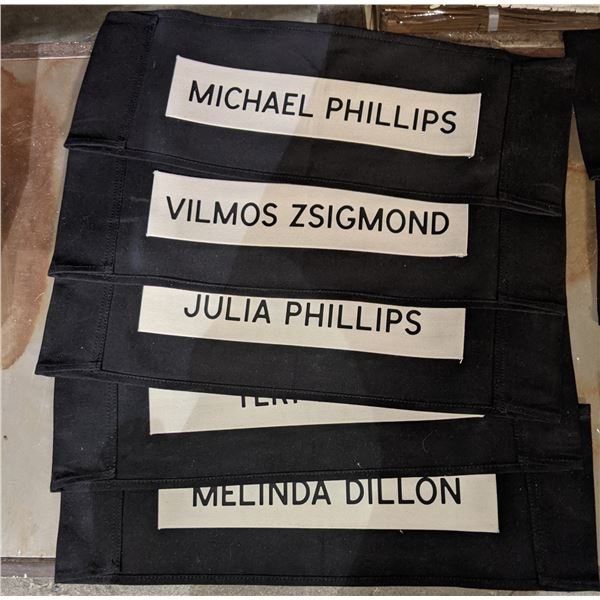 project Blue book chair name tags