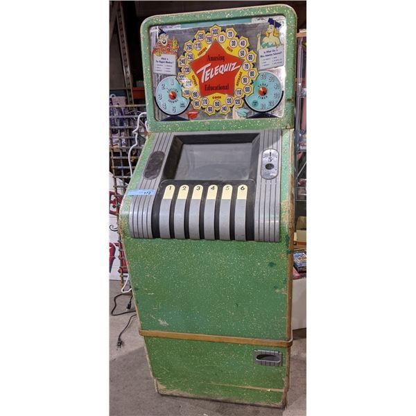 "Amusing telequiz educational slot machine 63"" x 22"" x 24.5"""