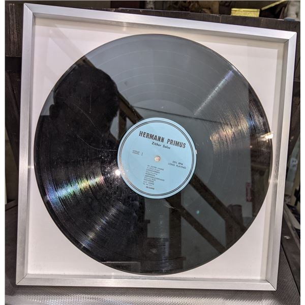 """Herman Primus Framed Record from """"The Man in the High Castle"""""""