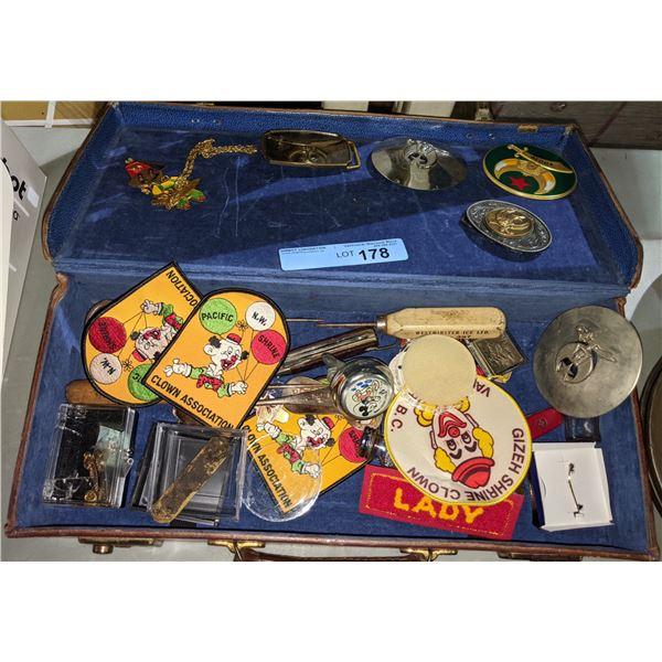 Assorted Shriner Collectors Memorabilia and Briefcase