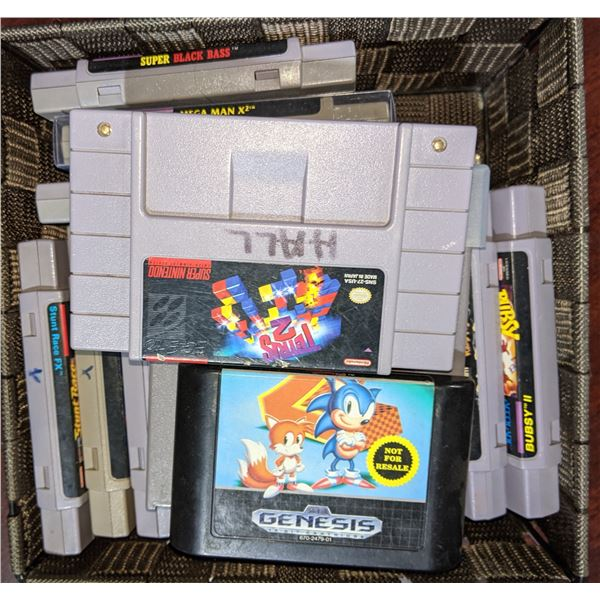15 out of box games Nintendo Super Nintendo Sega Genesis
