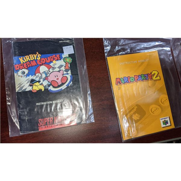 game booklets Nintendo 64 Super Nintendo Nintendo and