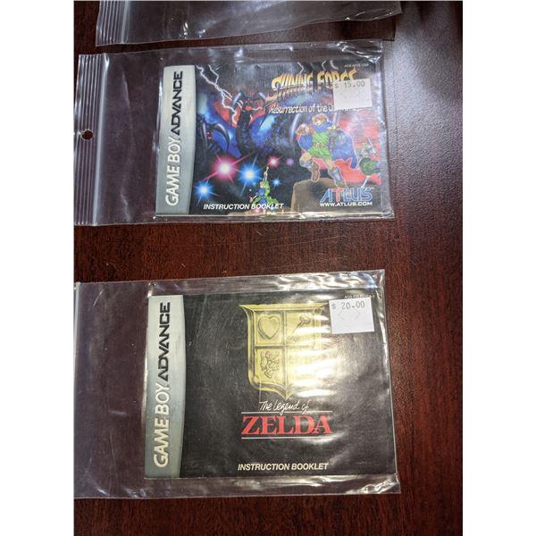 game booklets game Boy Nintendo 64 Super Nintendo