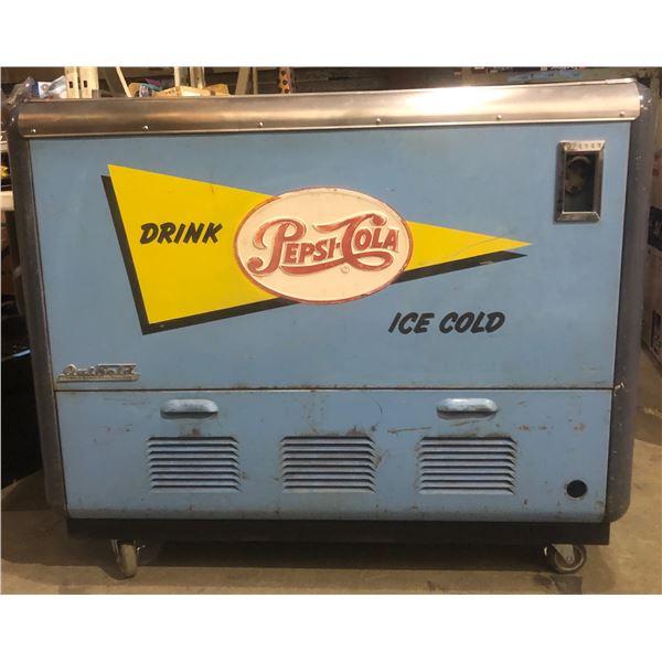 Vintage Light Blue Pepsi Cooler