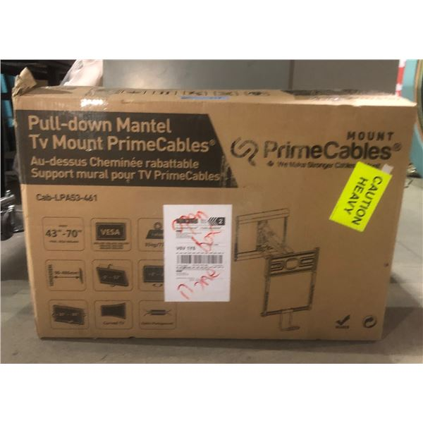 pull down mantle TV mount Prime cables approx77x51 x 15.5 cm