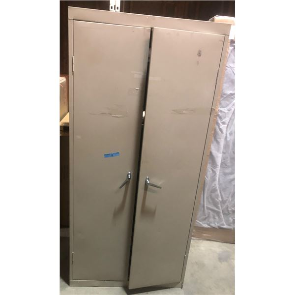 One large metal storage cabinet