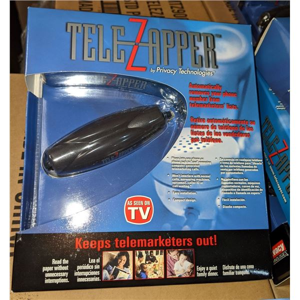 pallet of tele zapper automatically removes your phone number from telemarketers lists
