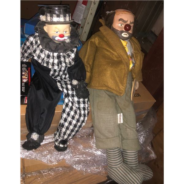 two clowns from the show