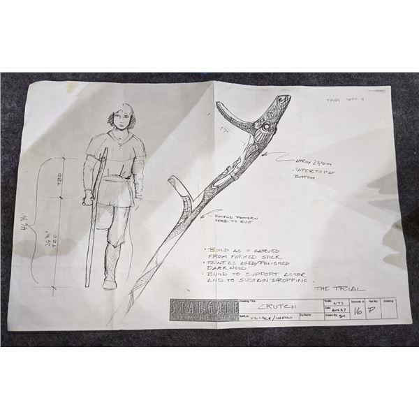 Stargate The Series Crutch Drawing